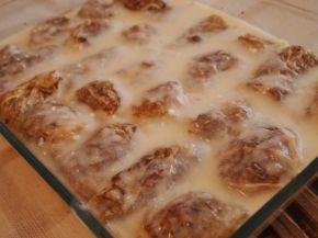 Снимка 4 от рецепта за Печени сармички с млечен сос