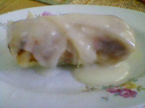Снимка 9 от рецепта за Печени сармички с млечен сос