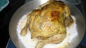 Снимка 3 от рецепта за Печено пиле върху сол