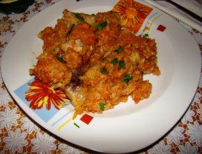 Снимка 3 от рецепта за Печено прясно зеле с пилешко