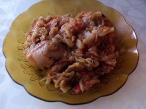Снимка 5 от рецепта за Печено прясно зеле с пилешко