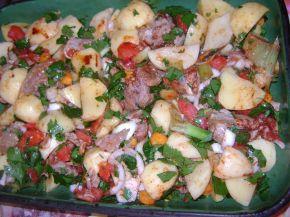 Снимка 2 от рецепта за Печено телешко с картофи и домати