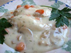Снимка 2 от рецепта за Пиле фрикасе с гъби и моркови
