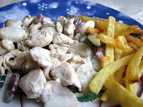 Снимка 1 от рецепта за Пиле по ловджийски