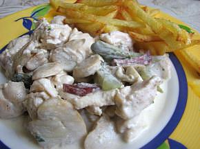 Снимка 2 от рецепта за Пиле по ловджийски