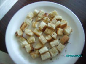 Снимка 4 от рецепта за Пиле с чеснов сос и крутони