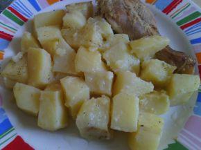 Снимка 7 от рецепта за Пиле с картофи и бира на фурна