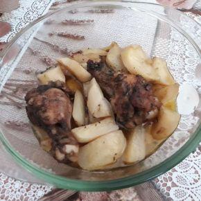 Снимка 9 от рецепта за Пиле с картофи и бира на фурна