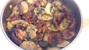 Снимка 10 от рецепта за Пиле с картофи и бира на фурна