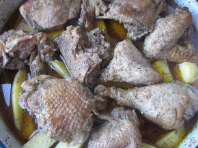 Снимка 3 от рецепта за Пиле с картофи и бира на фурна