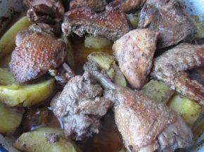 Снимка 4 от рецепта за Пиле с картофи и бира на фурна