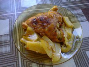 Снимка 6 от рецепта за Пиле с картофи и бира на фурна