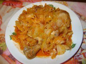 Снимка 2 от рецепта за Пиле с кисело зеле