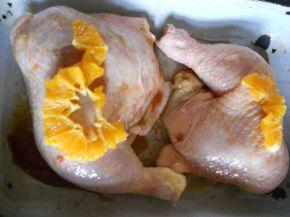 Снимка 2 от рецепта за Пиле с мед и портокал