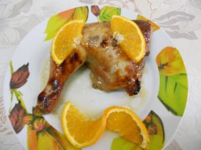 Снимка 3 от рецепта за Пиле с мед и портокал