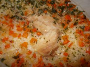 Снимка 7 от рецепта за Пиле с ориз на фурна