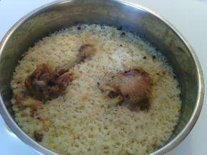 Снимка 9 от рецепта за Пиле с ориз на фурна