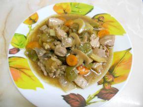Снимка 3 от рецепта за Пиле с вино и соев сос