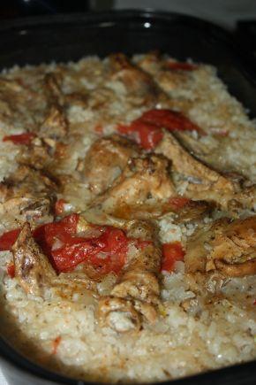 Снимка 2 от рецепта за Пилешки бутчета и крилца  с ориз