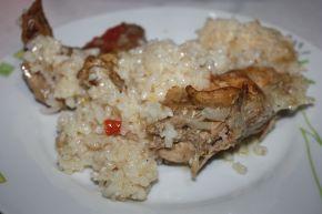 Снимка 3 от рецепта за Пилешки бутчета и крилца  с ориз