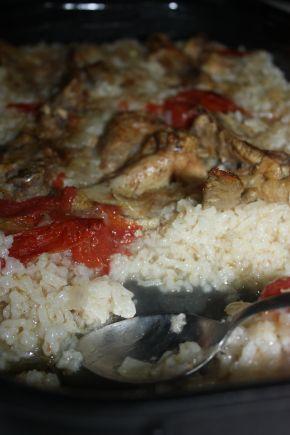 Снимка 5 от рецепта за Пилешки бутчета и крилца  с ориз