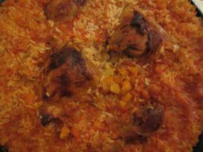 Снимка 3 от рецепта за Пилешки бутчета с ориз