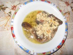 Снимка 2 от рецепта за Пилешки бутчета с пушено сирене и бира