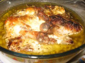Снимка 3 от рецепта за Пилешки бутчета с пушено сирене и бира