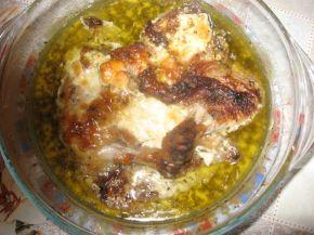 Снимка 4 от рецепта за Пилешки бутчета с пушено сирене и бира