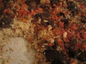 Снимка 9 от рецепта за Пилешки дробчета с ориз и маслини