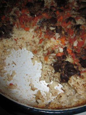 Снимка 8 от рецепта за Пилешки дробчета с ориз и маслини