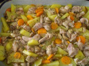 Снимка 2 от рецепта за Пилешки пържоли с гъби и картофи
