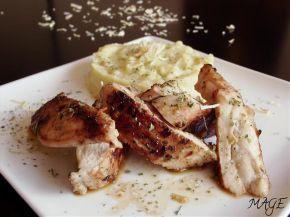 Снимка 2 от рецепта за Пилешко филе с естрагон и пюре от целина