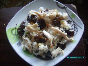Снимка 2 от рецепта за Пилешко с ориз и китайски гъби