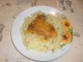 Снимка 2 от рецепта за Пилешко с ориз и зелен лук