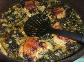Снимка 5 от рецепта за Пилешко със спанак и ориз