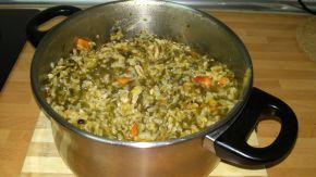 Снимка 2 от рецепта за Пилешко със спанак