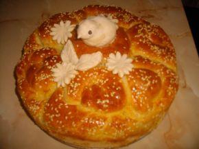 Снимка 6 от рецепта за Питка със сирене и украса от тесто