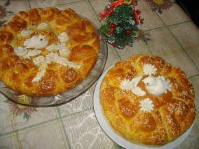 Снимка 7 от рецепта за Питка със сирене и украса от тесто