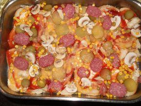 Снимка 2 от рецепта за Пица `Аламинут`