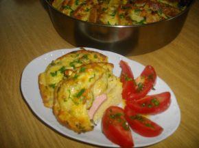 Снимка 6 от рецепта за Пица гратен от хляб