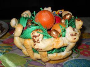 Снимка 3 от рецепта за Плетена кошничка