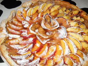 Снимка 3 от рецепта за Плодова тарта с ябълки и праскови