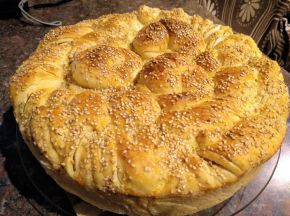 Снимка 7 от рецепта за Погача със сусам
