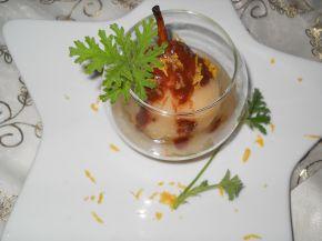 Снимка 5 от рецепта за Поширани круши с бяло вино, грейпфрут и индрише