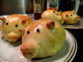 Снимка 1 от рецепта за Прасенца от содено тесто с плънка от лук