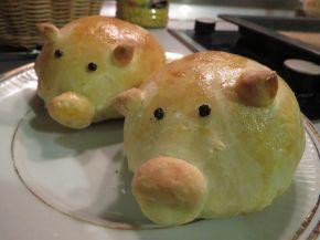 Снимка 2 от рецепта за Прасенца от содено тесто с плънка от лук