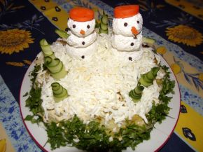 Снимка 3 от рецепта за Празнична салатна торта