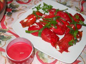 Снимка 2 от рецепта за Предястие от печени чушки с извара