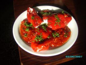 Снимка 2 от рецепта за Предястие с печени пиперки